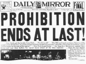 Today is the 80th Anniversary of the Repeal of Prohibition – Let's Celebrate!