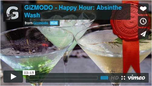 Absinthe Wash Video