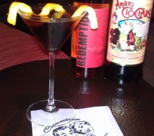 My own version with high-rye bourbon and Amaro Chiocharo