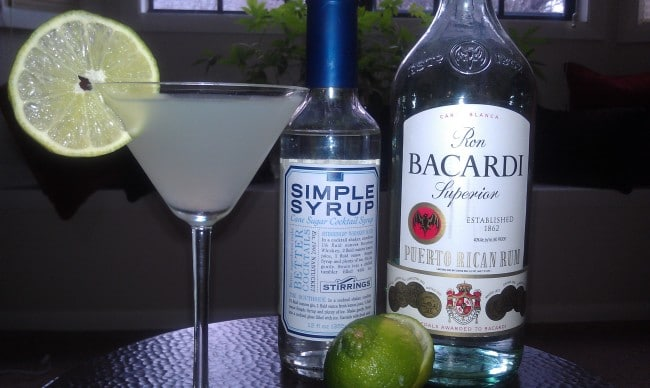 The IBA standard Daiquiri  with a 9:5:3 ratio.