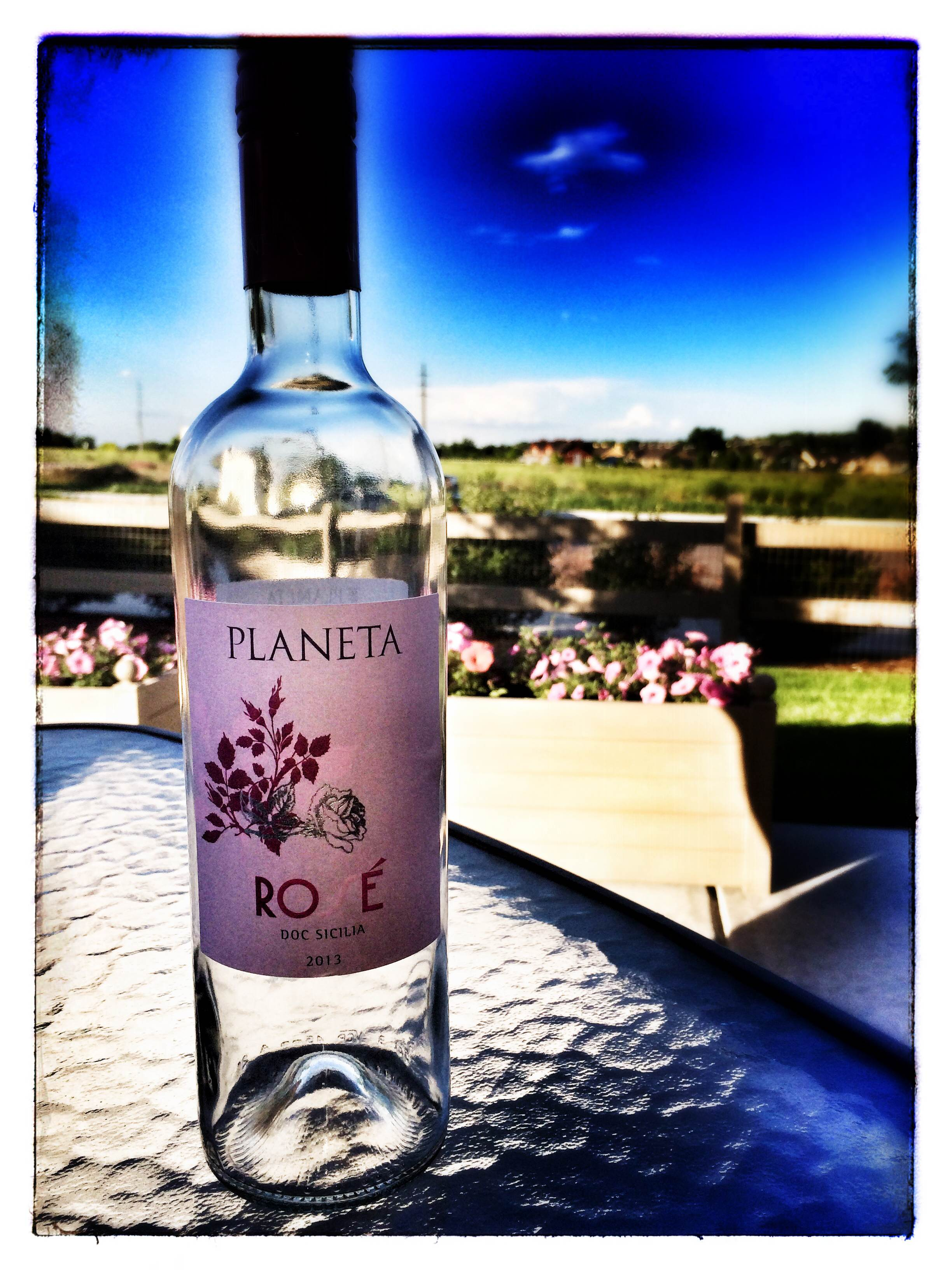 Planeta Rosé on Leslie's patio