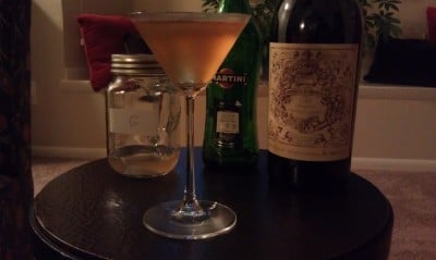This Perfect Martini using the peach-infused gin was very good.