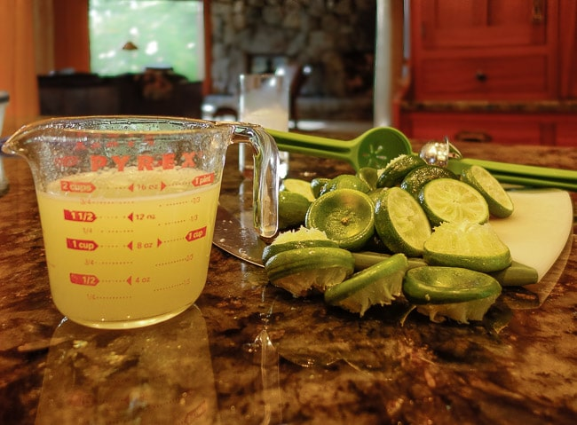 How much lime juice from a lime?