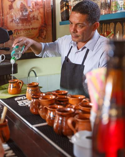 Paladar Bartender in Cuba